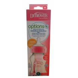 Dr Brown´s Biberon BA Rosa 270ml