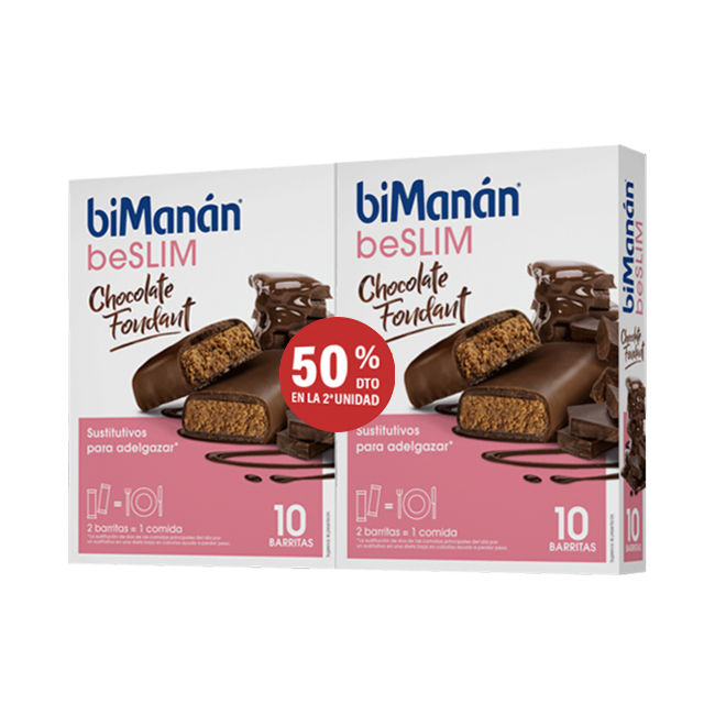 Bimanan Sustitutive Pack Barritas Chocolate Fondant 2ªUD 50%